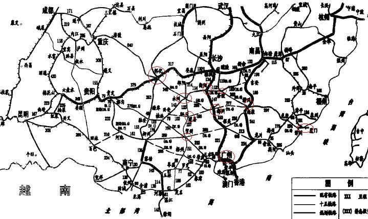 中国南部铁路建设规划图