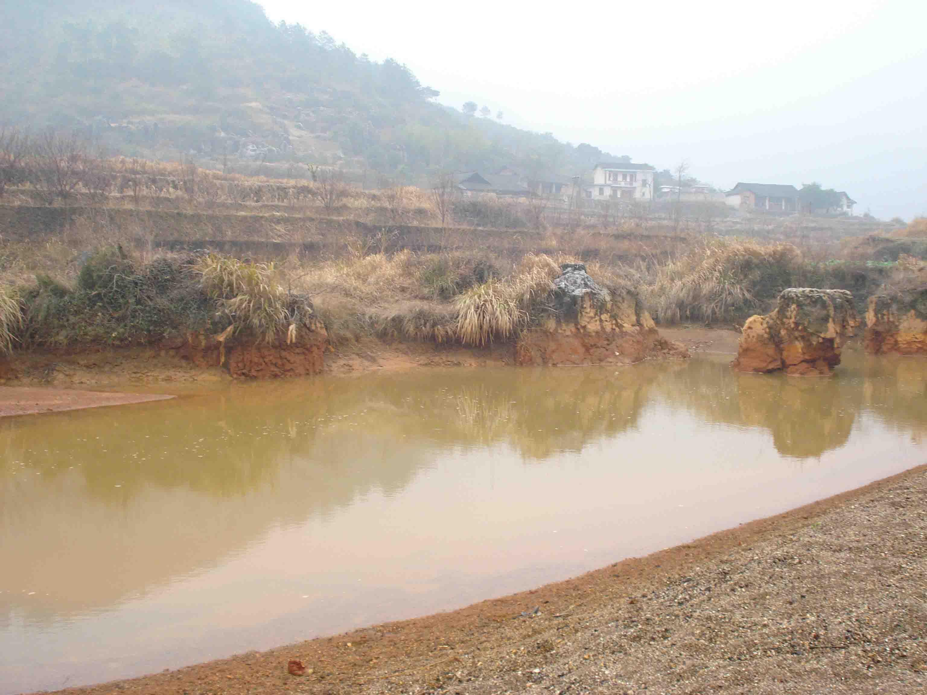 呼吁关注怀化椒板溪的河水污染(图)