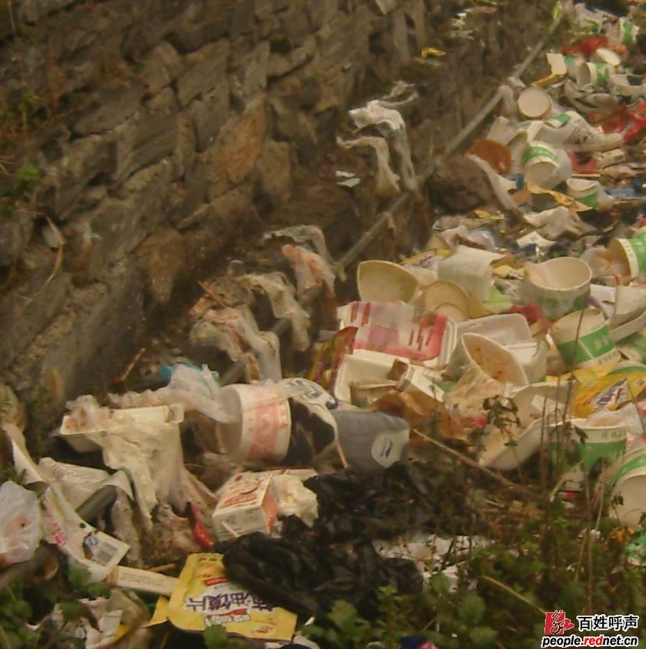 保靖县雅丽中学垃圾乱倒,影响居民生活图片