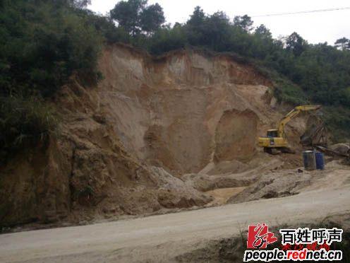 红网 - 百姓呼声 - 新化县文田镇的非法毁林采沙