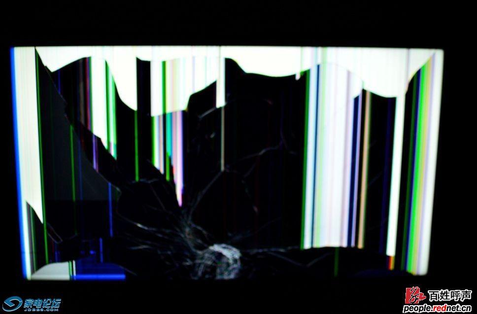 京东商城出售碎屏康佳电视机,拒绝退货(图)