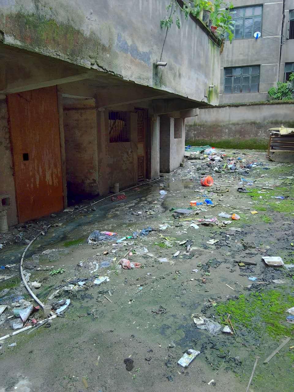 麻阳县城北停车场居民区垃圾成山粪水四溢无人处理