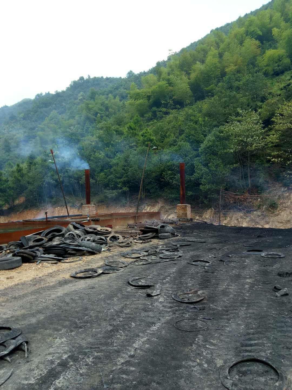 黑商轮胎炼油污染祁东县太和堂镇..